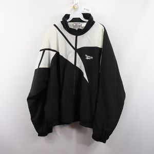 90s Reebok Mens XL Spell Out Windbreaker Jacket